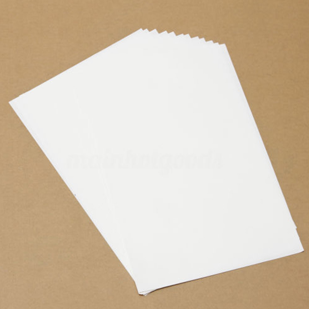 10pcs T-Shirt A4 Light Fabric Transfer Paper Heat Light Color Iron Printworks For Inkjet Printers