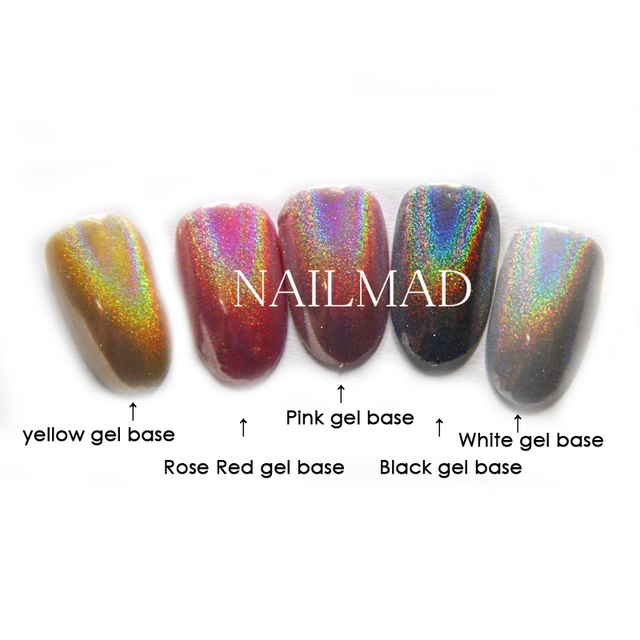 0.5g/box Rainbow Pigment Duochrome Pigment Holographic Unicorn Powder Hologram Mica Rainbow Holographic Powder