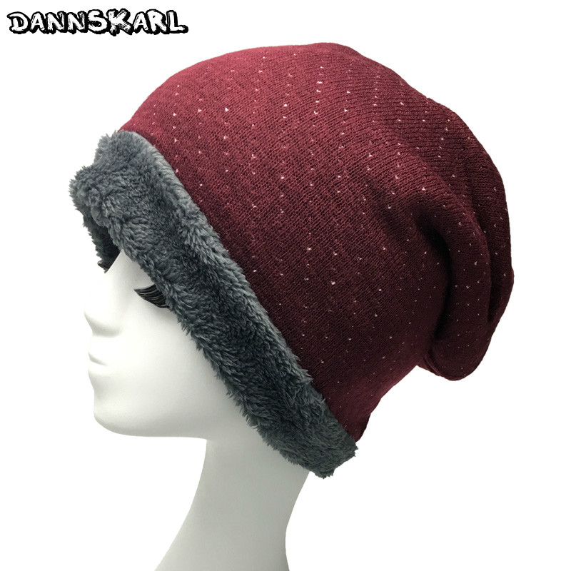 2017 Fashion Autumn Winter Women Hats Villus Line Knitted Female Hat bonnet femme Skullies Beanies Keep Warm Caps for woman aetrue winter knitted hat beanie men scarf skullies beanies winter hats for women men caps gorras bonnet mask brand hats 2018