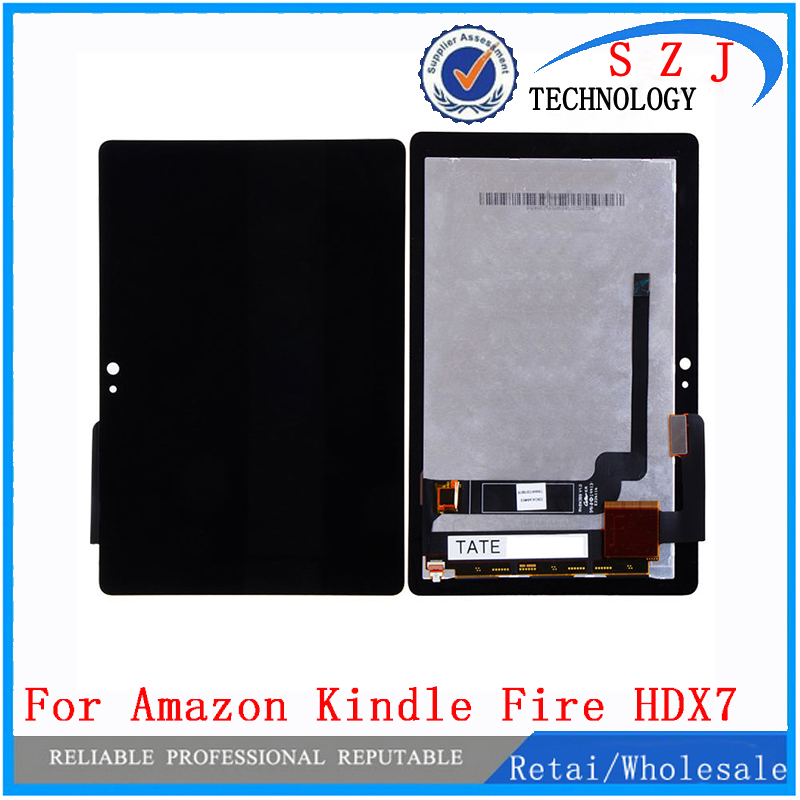 New 7'' inch case For Amazon Kindle Fire HDX7 HDX LCD Display + Touch Screen Digitizer Assembly Replacement Free Shipping high quality silver for htc one m7 lcd display touch digitizer screen frame back door battery cover case housing