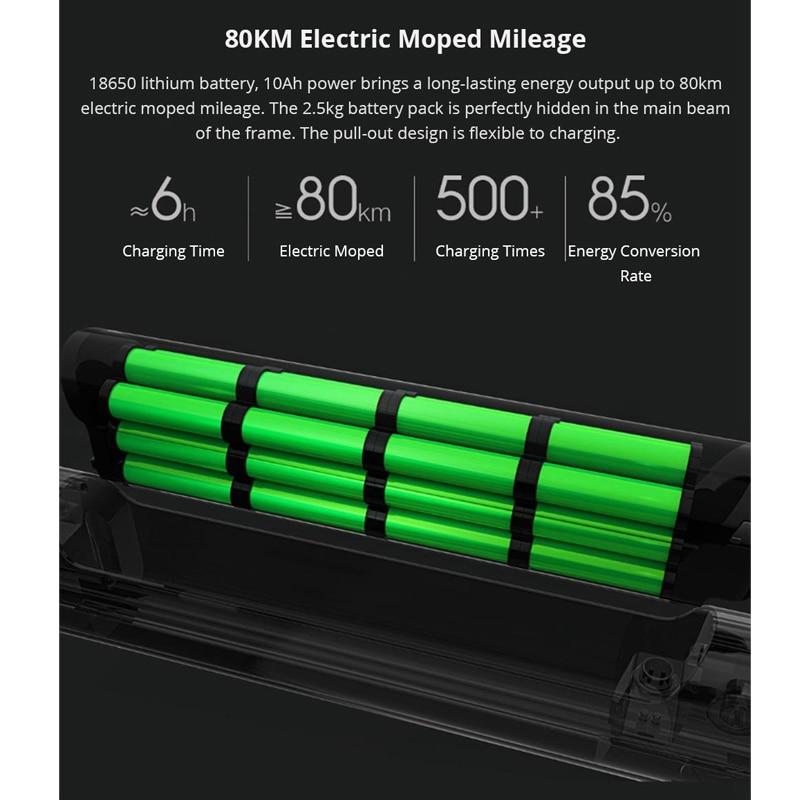 Freies duty Für Xiaomi HIMO C20 Faltbare Elektrische Moped Fahrrad 250W Motor 25 km/hcapacity 100kg für erwachsene und jugendliche lightweig