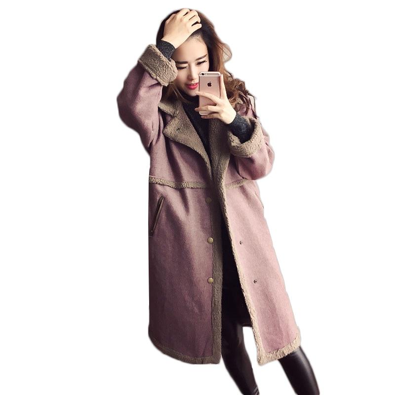 Здесь продается  Wool jacket female winter jacket women woolen coat Korean version lamb wool coat fashion loose long overcoat women woolen coat  Одежда и аксессуары