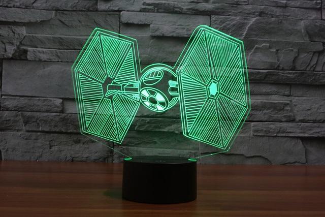 Star Wars TIE Fighter 3D LED Lighting Color Changing Light Awesome Laser  Engraved Light 3D Deco