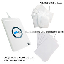 ACR122u nfc reader writer USB interface + 5pcs NTAG213 nfc tag + 5pcs m ifare UID changeable 1k cards + free SDK 5pcs lot uid changeable ic tag keyfob for mif 1k 13 56mhz writable mif 0 zero hf iso14443a