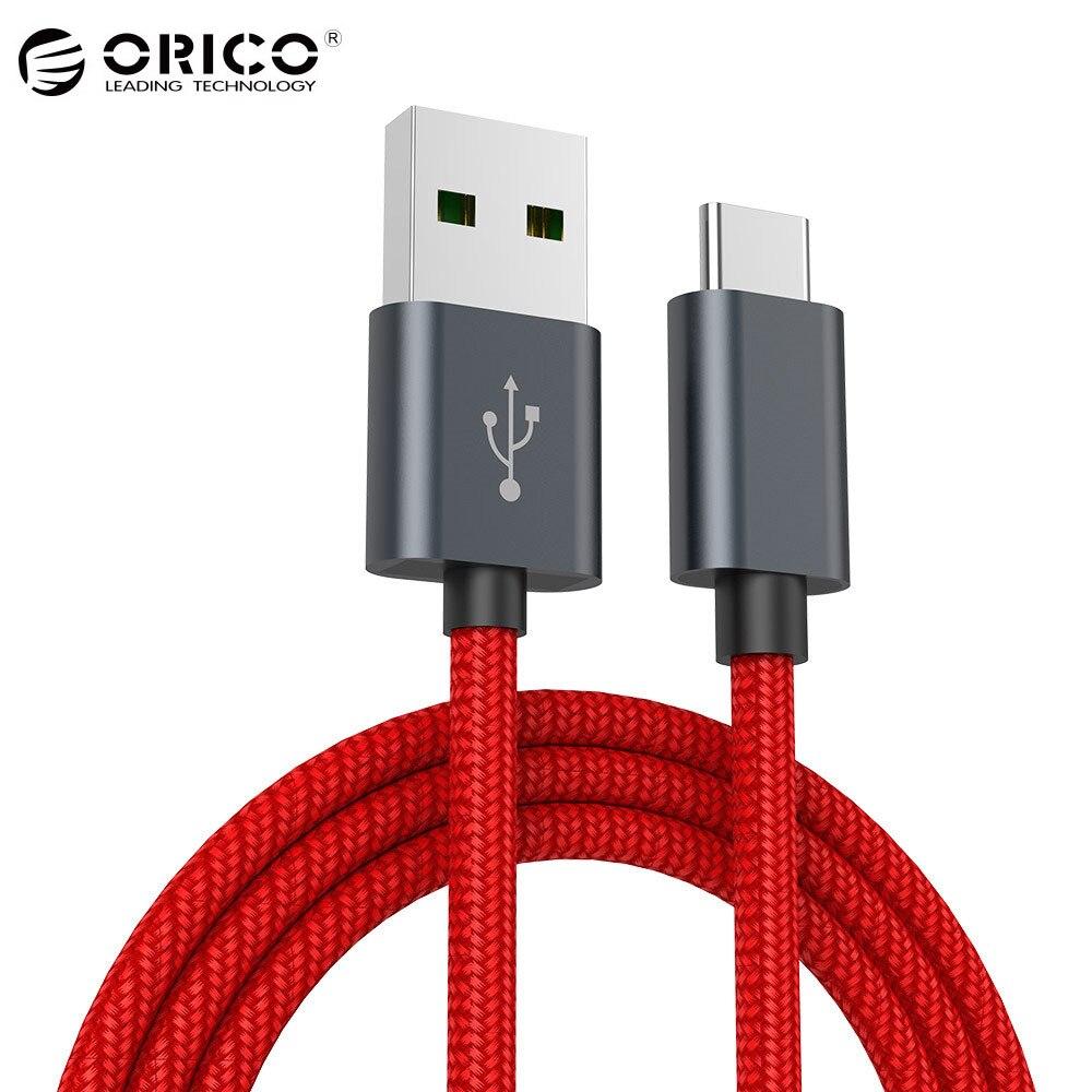 ORICO 5A USB tipo C Cable de alta velocidad de sincronización USB y Cable de carga para Huawei P9 Macbook LG G5 xiao mi 5 HTC 10 y más