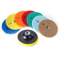 4 100mm Dry Polishing Pad With Self Adhesive Polishing Disc 30 3000 Grit For Marble Ceramics