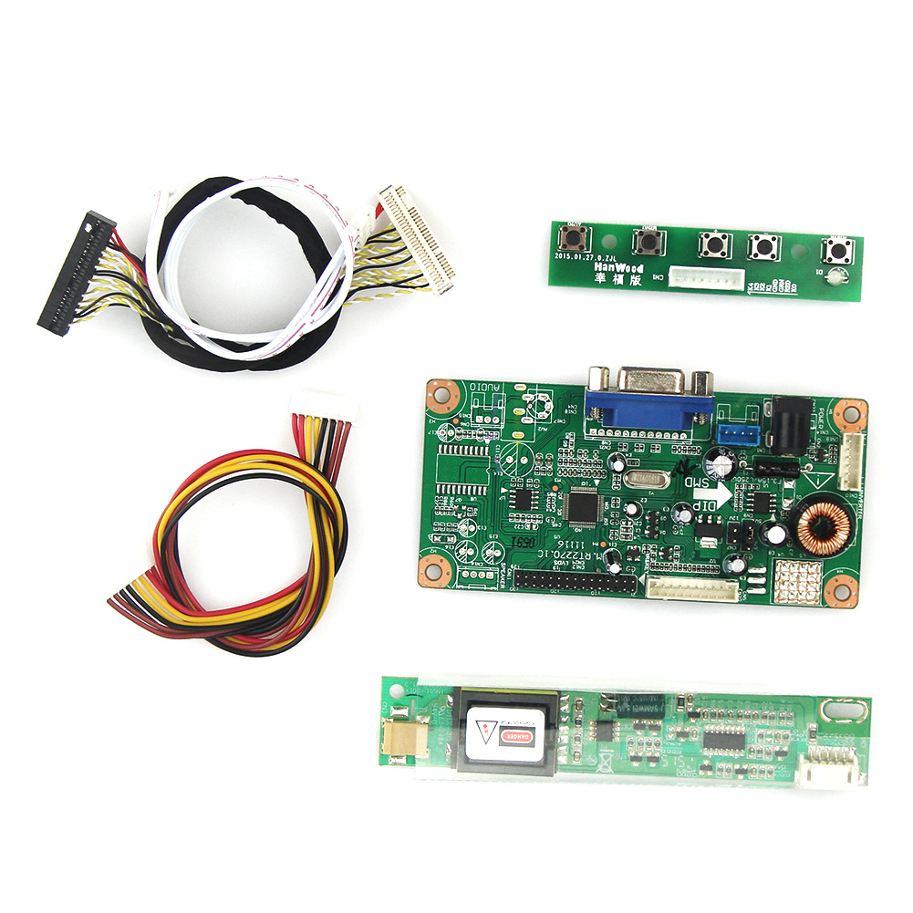 Control Driver Board VGA For LTN156AT01 LVDS Monitor Reuse Laptop 1366x768