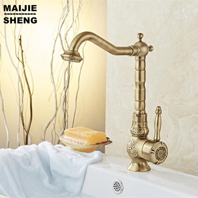 Aliexpress Com Buy Free Shipping Antique Brass Faucet