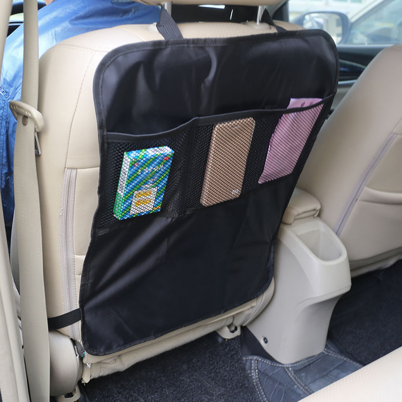 universal pvc car back seat protector cover anti kicking mat for children kids baby organizer for ipad drink book mobile phones