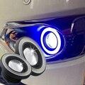 """1 Par de Coches 30 W 2.5 """"64mm LED Linterna Del Faro de Conducción DRL Daytime Running Niebla de Seguridad Del Ojo Del Ángel de Halo Anillo de Luz Principal de La Lámpara"""