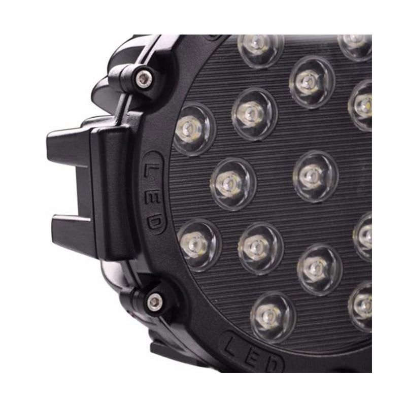 2 個 12V 7 インチ 51 ワットラウンド LED ワークライト Spot Flood Beam のための 4 × 4 オフロードトラックトラクター ATV SUV 駆動ランプ  グループ上の 自動車 &バイク からの ライトバー/ワークライト の中 3