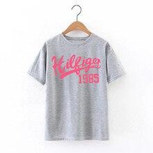 Rue De Femmes Режим Фарш De Base t-shirt 2016 Nouvelle Lettre imprimer Вскользь Уменьшают Женщин Топы Футболки Плюс Ла Талии T c