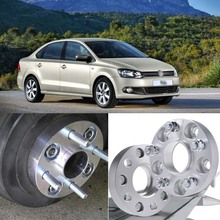 цена на 4pcs 5X100 57.1CB 25mm Thick Hubcenteric Wheel Spacer Adapters For VW Polo/Bora/Golf/Beetle