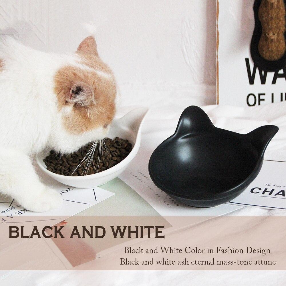 Vivipet Hewan Peliharaan Kucing Mangkuk Keramik Telinga Mangkok Cat Nasi Basin Garfield Double Miring Mulut Paket Pos Di Makannan