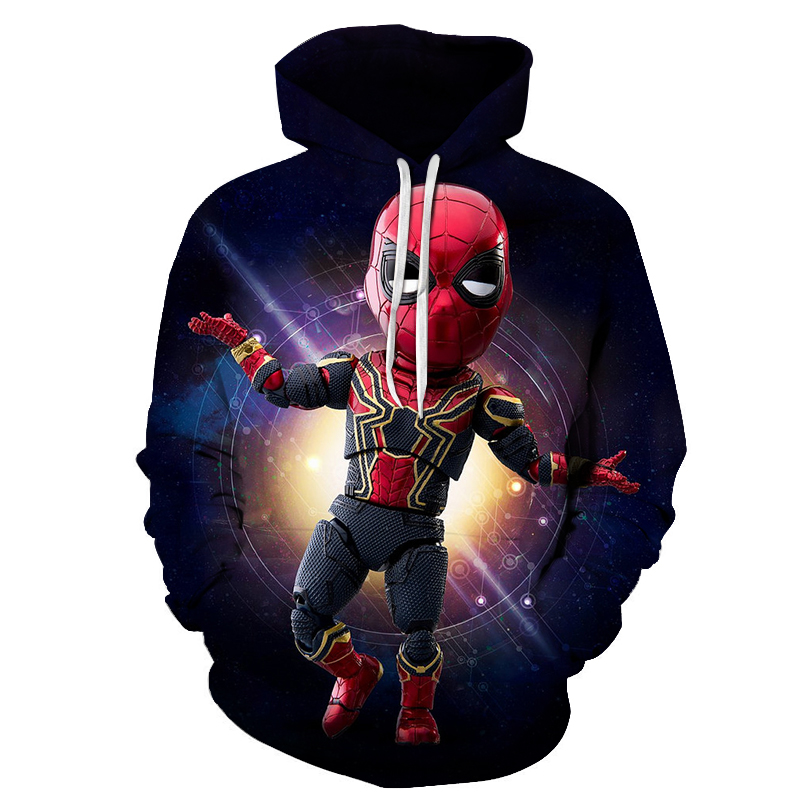 3d Printed Avengers Infinity War Iron spider-maHoodies Men Sweatshirts Pullover Fashion Tracksuits Animal Streetwear Out Coat