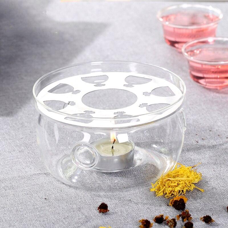 Base di riscaldamento Caffè Acqua Tè Candela di Vetro Trasparente Resistente Al Calore Teiera Warmer Isolamento di Base Candela Titolare Accessori Per il Tè