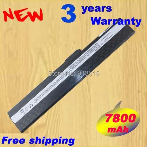 11.1 В 7800 мАч аккумулятор для ноутбука Asus 70-NXM1B2200Z A42f A42j A52j A52f k52 к42 k52jt k52ju k52jc k52jr 9 клетки