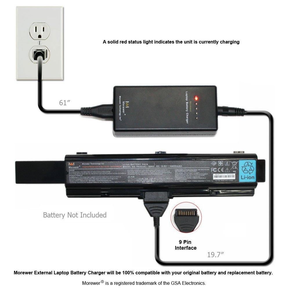 Morewer laptop battery charger for Toshiba 1BRS PA3535U PABAS097 A300 A305  PA3534U 1BRS laptops-in Laptop Adapter from Computer & Office on  Aliexpress.com ...