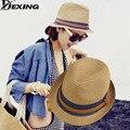 [Dexing] 2017 de la moda de las mujeres unisex parejas amantes playa cap summer jazz sombreros de sun del sombrero de paja sombreros frescos