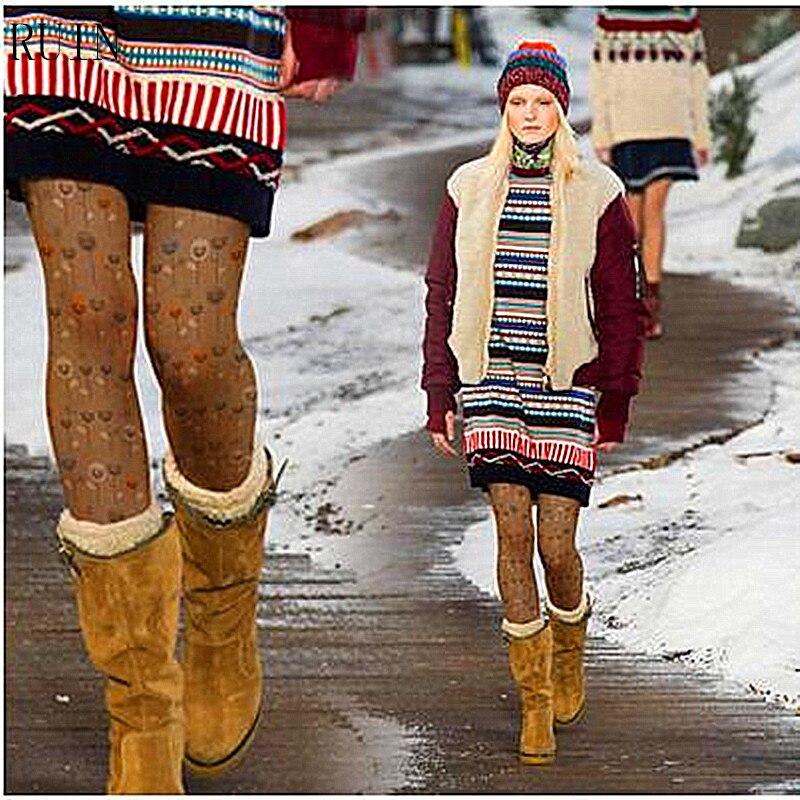 RUIN дамски чорапогащи отпечатайте чорапогащи женски момичета