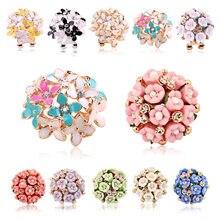 edfb123fb101 14 colores pendientes para las mujeres Boucle d oreille cristal flor Clover  pendiente oro Bijoux Brincos Mujer