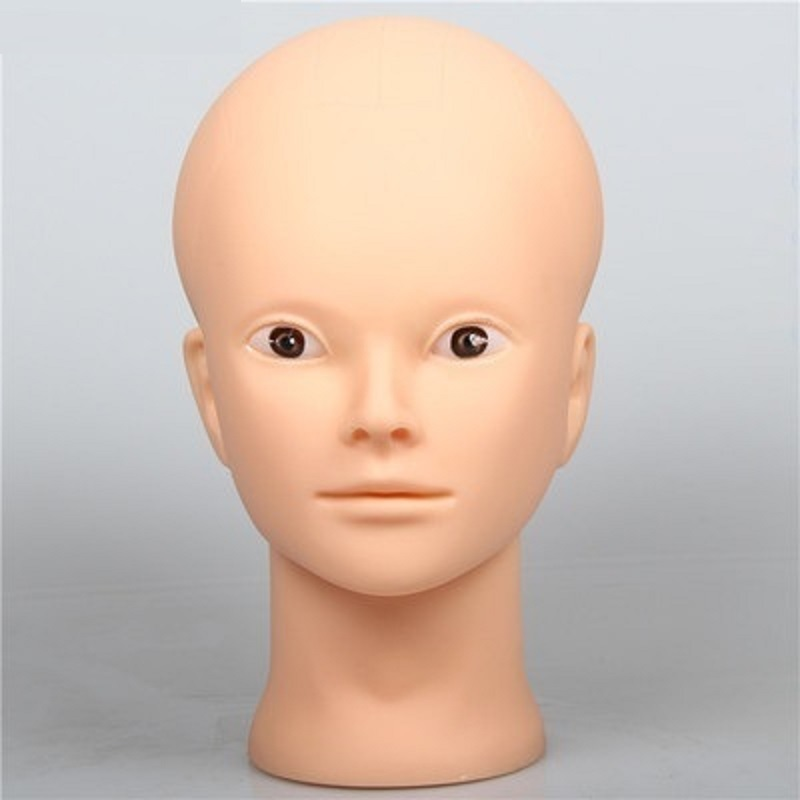 CAMMITEVER 20 inch Mannequins Before Make Up Doll Female Mannequin Head Plastic Heads in Mannequins from Home Garden