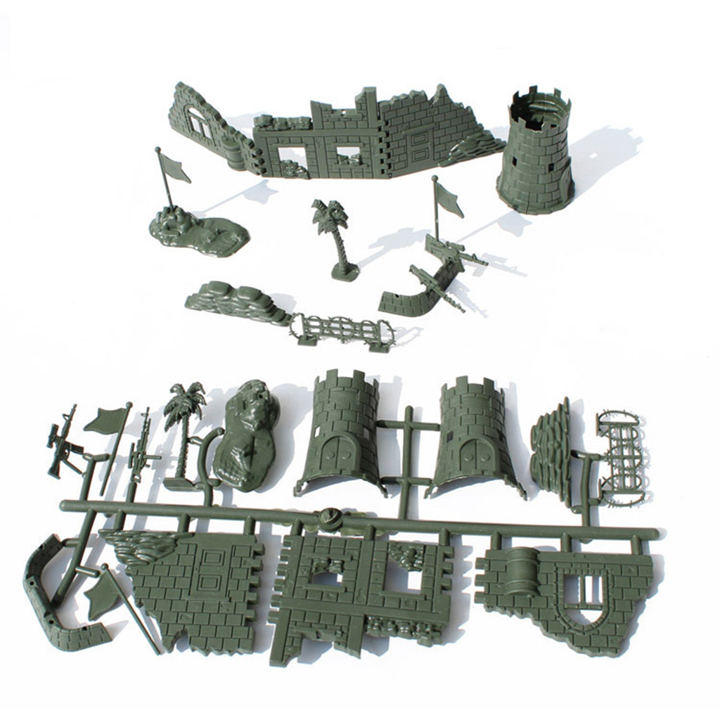 1pcs Military Ruins Set Sand Table War Fence Assembly Diy Accessory Military Scene Kit Model Toy For Children Kids Arts & Crafts, Diy Toys Craft Toys