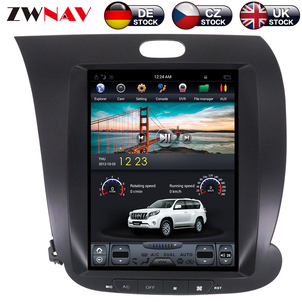 ZWNVA Тесла ips Экран Android 7,1 автомобиль gps навигации радио Нет CD плеер для KIA CERATO K3 FORTE 2013 2014 2015 2016 2017
