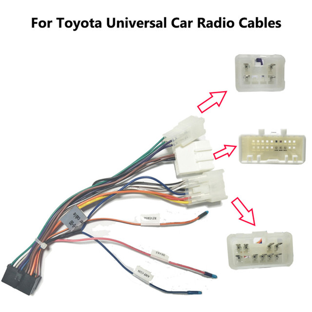 Car Stereo 20 PIN Wiring Harness Connector Adapter 1/2DIN Android Power Cable Harness for Toyota