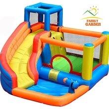 Надувная уличная водная горка с плавательным бассейном и пистолетной горкой батут замок водные горки для детей