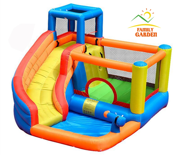 US $415.85 11% OFF|Inflatable Outdoor Water Slide With Swimming Pool And  Gun Slide Bouncer Castle Waterslides for Kids-in Slides from Sports & ...