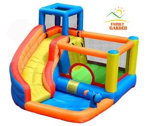 Water-Slide Slide-Bouncer Castle Swimming-Pool Inflatable Kids Outdoor with And Gun