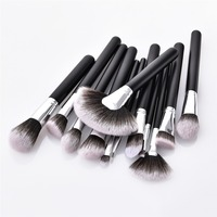 New 12 Pcs Makeup Brushes Set Professional Fan Shaped Loose Powder Eye Shadow Brush High Quality
