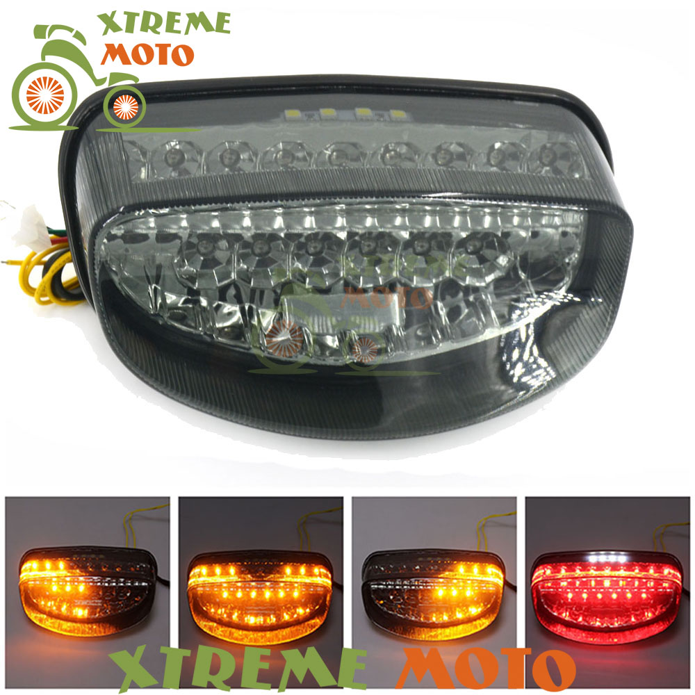 Motorcycle LED Rear Turn Signal Tail Stop Light Lamps Integrated For Honda CBR1000XX CBR 1000 XX Hornet 250 600 1997 1998 97 98 motorcycle fairing kit for honda cbr600f3 97 98 1997 1998 cbr600 f3 97 98 cbr 600f3 blue flames gloss black fairings set