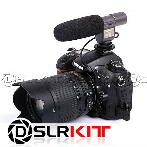 wholesales/free shipping SG-108 Stereo Shotgun Microphone for CANON NIKON PENTAX OLYMPUS PANASONIC D-SLR