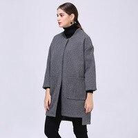 European Spring Autumn Pattern New Code Suit Dress High End Temperament Long Fund Women S Woolen