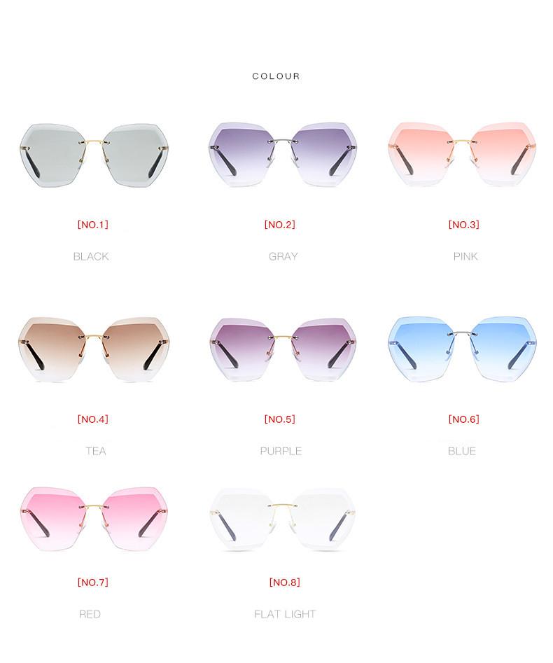 HTB13wT8fBfH8KJjy1Xbq6zLdXXau - Luxury Vintage Rimless Sunglasses Women Brand Designer Oversized Retro Female Sunglass Sun Glasses For Women Lady Sunglass 2018