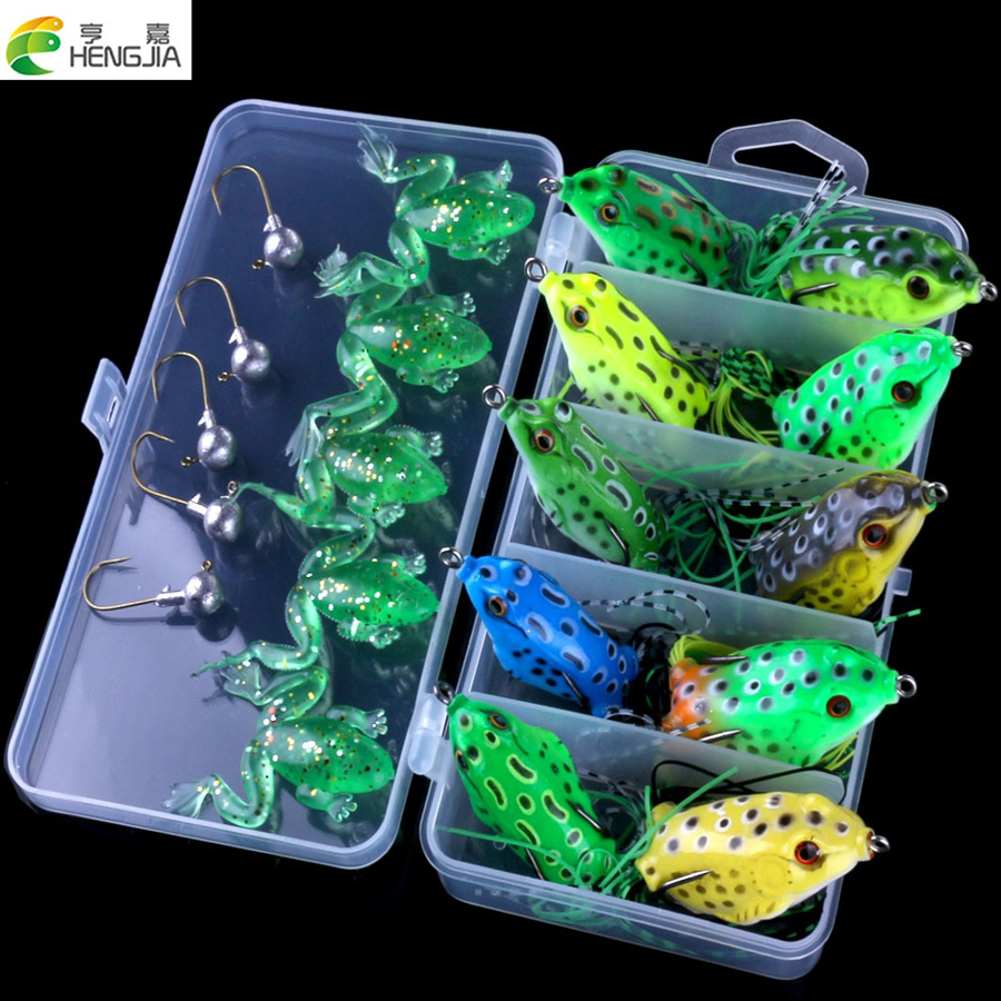 20PCS/Box Fishing Lure Set Artificial Frog Lures Fishing Box Package Mixed Soft Bait Fishing Tackle HJ098 Free Shipping стоимость