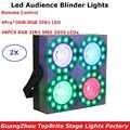 Yeni Varış 4 Gözler 4X30W RGB 3IN1 Led Izleyici Blinder DMX LED COB 150W Düz Par ışıkları Ile 48 Adet RGB Tam Renkli SMD 5050 LED