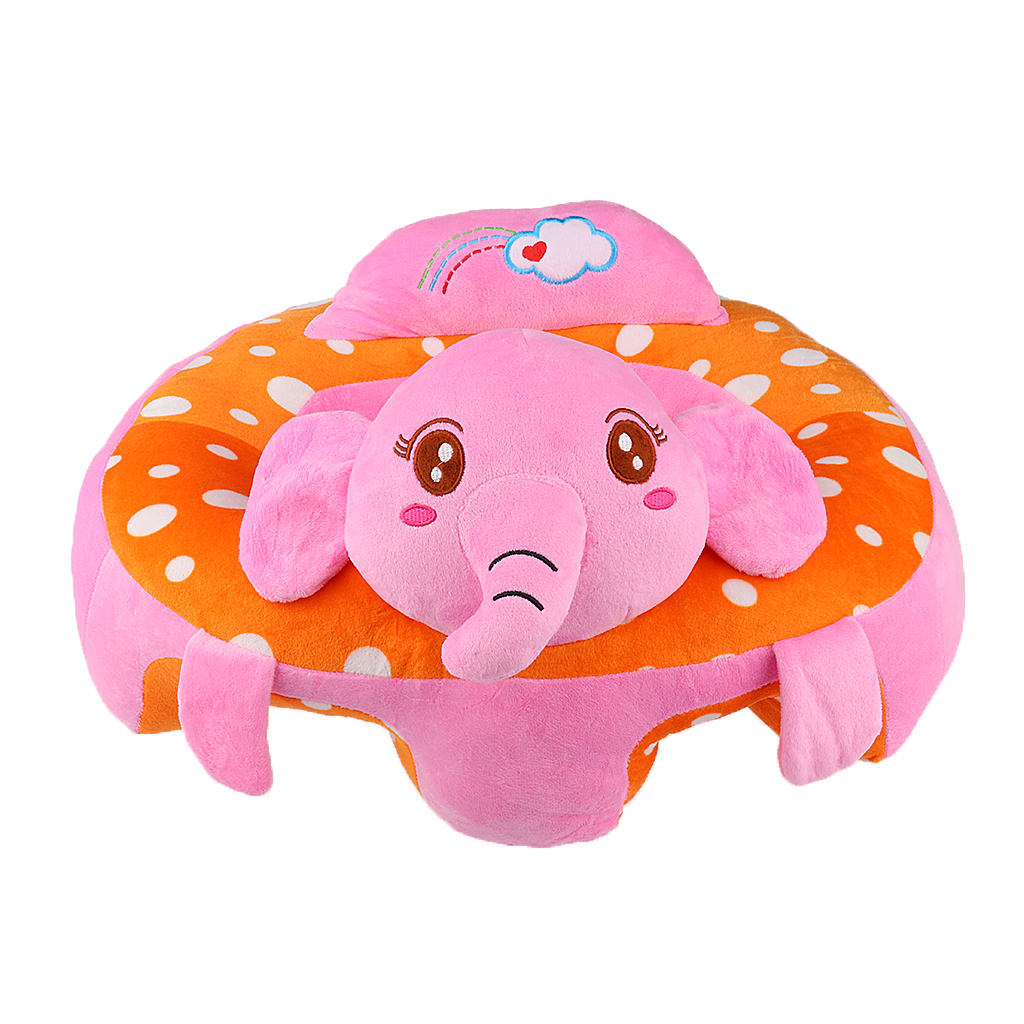 1Pc Cotton Baby Infant Toddlers Support Seat Soft Chair Car Cushion Plush Seat Great Gift Animal Toy 4Kinds