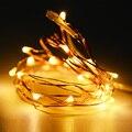 Mini LED Fio de Cobre Luzes De Fadas Bateria Operado Levou Natal luz 2 M 20 LEDs Luz Cordas Garland Para O Casamento Xmas partido