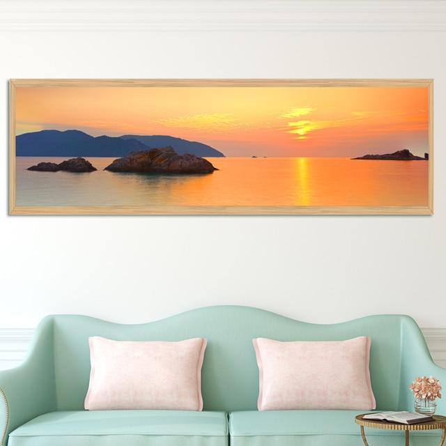 Kein Rahmen Sonnenaufgang Sonnenuntergang Meer Ansichten Malerei