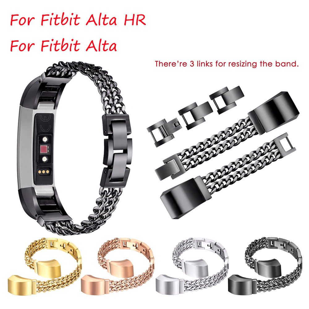 Watch Band Stainless Steel Wrist Strap Bracelet Wristband Adjustable Replacement For Fitbit Alta HR/Fitbit Alta Smart S BFOF