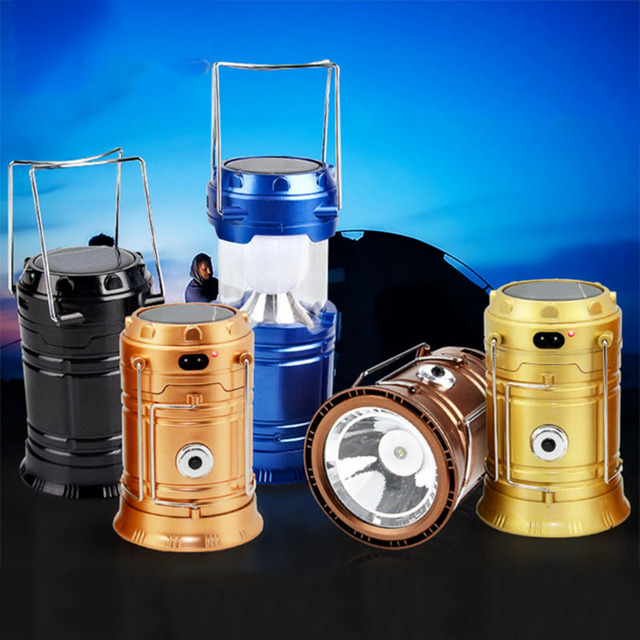 Collapsible LED C&ing Lantern Solar USB Rechargeable Light Flashlight Torch Outdoor Survival L& for Hiking Fishing & Collapsible LED Camping Lantern Solar USB Rechargeable Light ... azcodes.com
