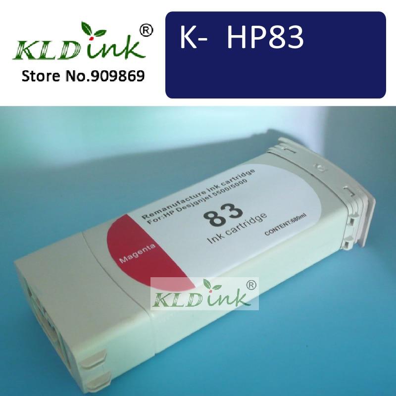 ФОТО KLDINK - HP83 C4942A Magenta UV Remanufacture inkjet cartridge