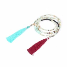 Declaración Collar Collares Largos Mujeres Bohemio Maxi Boho Borla de Cuentas de Piedra Natural de La Joyería Hecha A Mano de Buda Nueva Collier Femme
