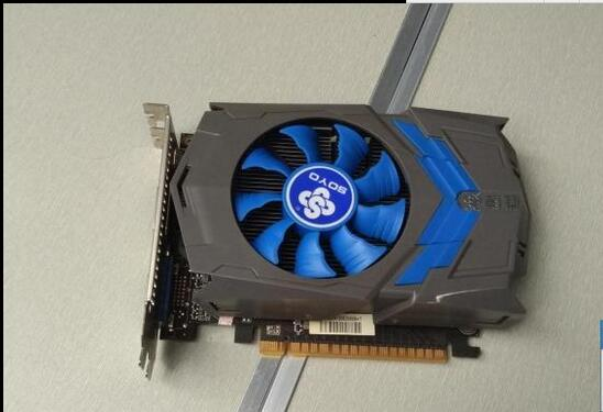 Used original game graphics card for the Soyo GTX650 1G DDR5 128bit PCI-E used gtx740 energy efficient desktop game disassemble graphics 1gd5
