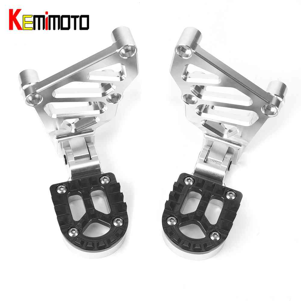 KEMiMOTO For HONDA X-ADV XADV X ADV 2017 Folding Rear Foot Pegs Footrest Passenger radiator grille guard Motorcycle accessories radiator protective cover radiator guard for honda x adv 750 2017 on black