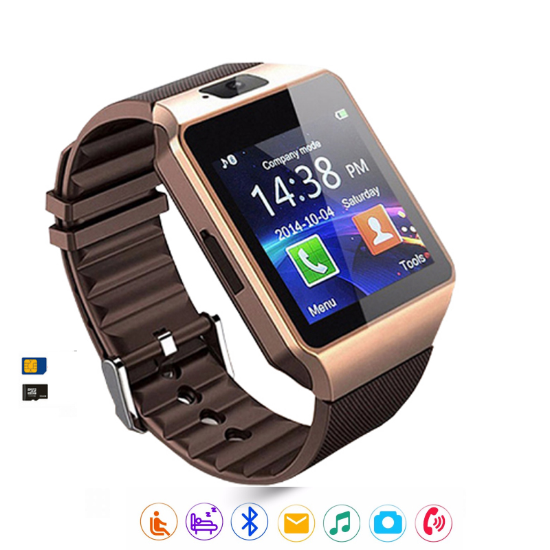 Dz09 Bluetooth Smartwatch Touch Clocks Smart Watch Phone Support SIM/TF Card Camera Smartphone For Android IOS Samsung PK A1 V8