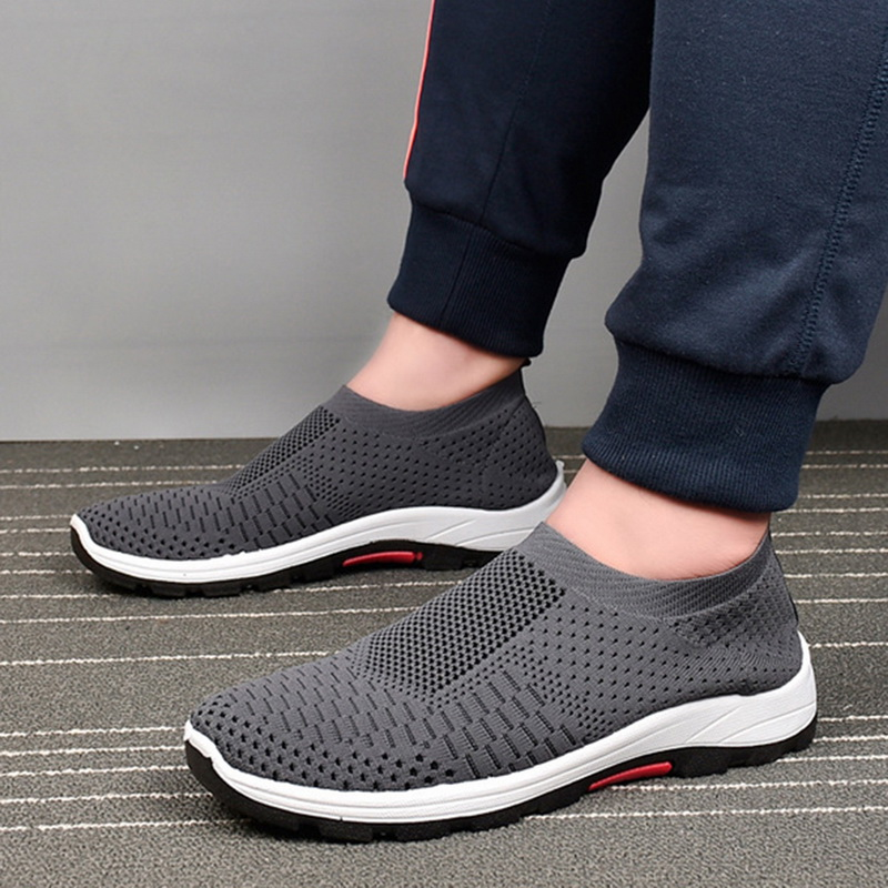 Adisputent Sports Sneakers Light Mesh Casual-Shoes Comfortable Running Men Woven Male